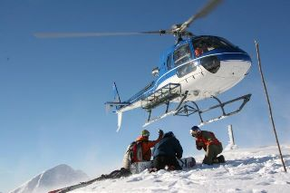 Helisopter for Heli ski in Romania